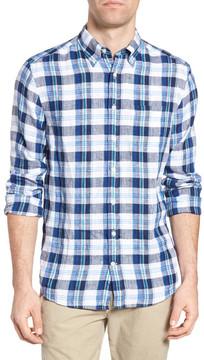 Gant Trim Fit Plaid Linen Sport Shirt