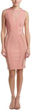 Wow Couture Bandage Mesh Sheath Dress