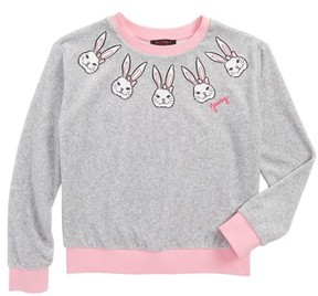 Juicy Couture Toddler Girl's Embroidered Velour Top