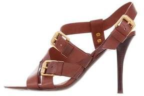 Bottega Veneta Leather Ankle Strap Sandals
