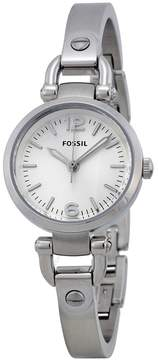 Fossil Georgia Mini Silver Dial Stainless Steel Ladies Watch