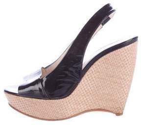 Jil Sander Slingback Wedge Sandals