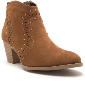 Qupid Maple Perforated Morrison Bootie - Women