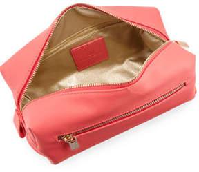 Neiman Marcus Faux Saffiano Cosmetics Bag