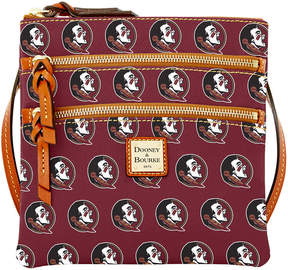 Dooney & Bourke Florida State Seminoles Triple Zip Crossbody Bag - MAROON - STYLE