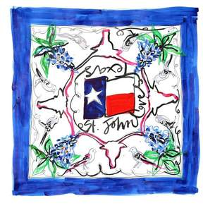 St. John Loves Texas Scarf