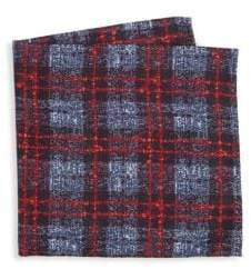 Saks Fifth Avenue COLLECTION Flannel Herringbone Silk Pocket Square