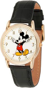 Disney Mickey Mouse Mens Black Strap Watch-Wds000404
