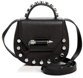 Mackage Round Leather Crossbody Bag