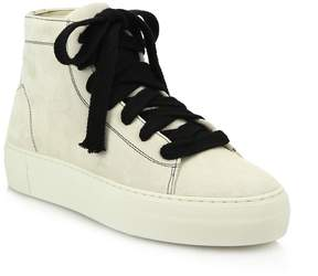 Helmut Lang Women's High-Top Suede Lace-Up Sneakers