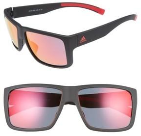 adidas Women's Matic 59Mm Sunglasses - Black Matte/ Red Mirror