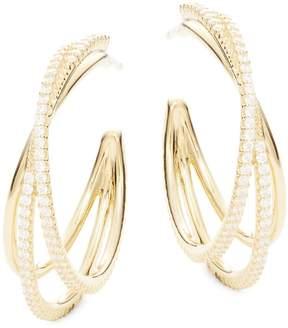 Adriana Orsini Women's Illusion Crystal Hoop Earrings