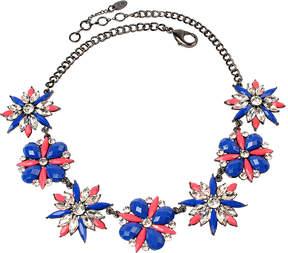 Amrita Singh Blue & Austrian Crystal Ritzy Bib Necklace