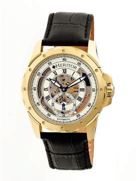 Heritor Armstrong Mens Black Strap Watch-Herhr3403
