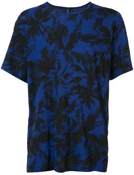 Attachment palm tree print T-shirt