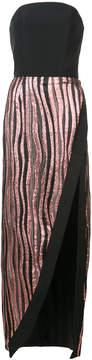 Christian Siriano panelled strapless dress