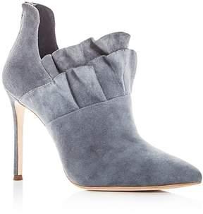 Pour La Victoire Women's Cedra Suede Ruffle High Heel Booties