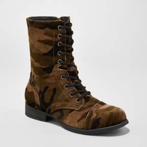 Mossimo Women's Autumn Printed Velvet Combat Boots