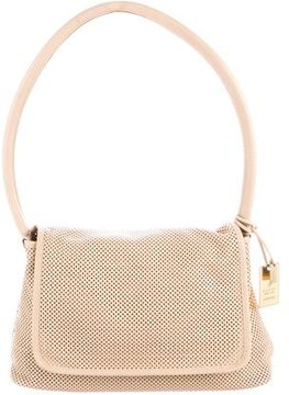 Gucci Perforated Leather Flap Bag - NEUTRALS - STYLE