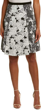 Eva Franco Jacquard A-Line Midi Skirt