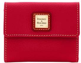 Dooney & Bourke Pebble Grain Small Flap Wallet - CRANBERRY - STYLE