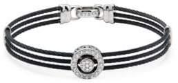 Alor Diamond & 18K White Gold Multi-Strand Bracelet