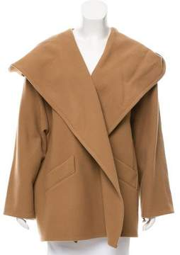 Closed Hooded Wool Coat