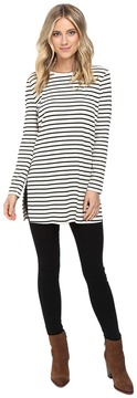 Culture Phit Geralyn Long Sleeve Top with Side Slits Women's Clothing