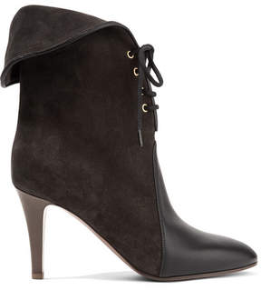 Chloé Kole Palmer Suede And Leather Ankle Boots - Black