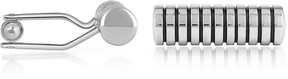 Forzieri Cylinder Silver Plated Cuff Links