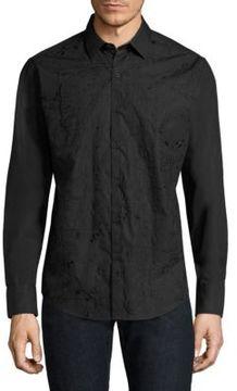 Robert Graham Woven Textured Cotton Button-Down Shirt