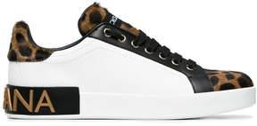 Dolce & Gabbana pony skin leopard print sneakers