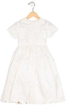 Joan Calabrese Girls' Pleated Short Sleeve Dress