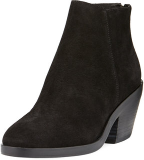 Eileen Fisher Verge Wedge Suede Bootie, Black
