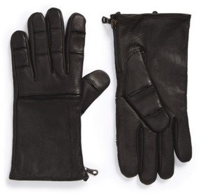 John Varvatos Men's Deerskin Leather Gloves