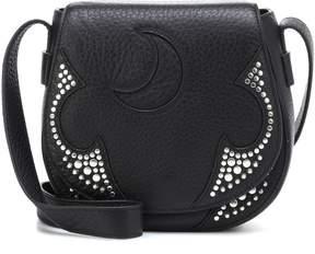 McQ Studded leather shoulder bag
