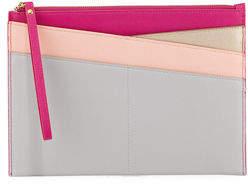 Neiman Marcus Colorblock Novelty Slim Portfolio