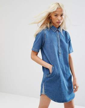 Noisy May Collar Denim Dress