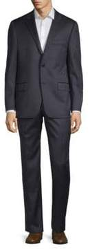 Hickey Freeman Tonal Striped Wool Suit