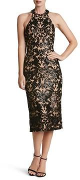 Dress the Population Women's Cassie Sequin Midi Dress