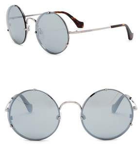 Balenciaga 55mm Round Sunglasses