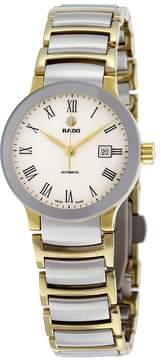 Rado Centrix Automatic White Dial Two-tone Ladies Watch