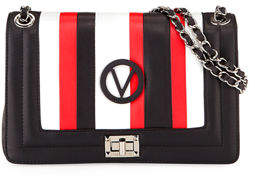 Mario Valentino Valentino By Alice Striped Leather Shoulder Bag