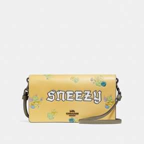 Coach Disney X Sneezy Foldover Crossbody Clutch