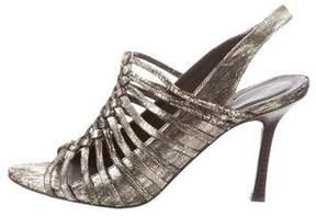 Elizabeth and James Metallic Leather Sandals