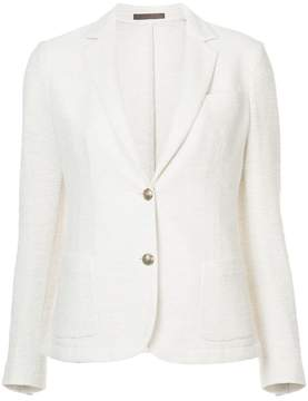 Eleventy metallic tweed blazer