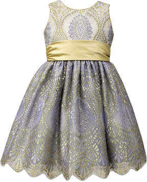 Jayne Copeland Gold Sash Ball Gown, Little Girls (4-6X)