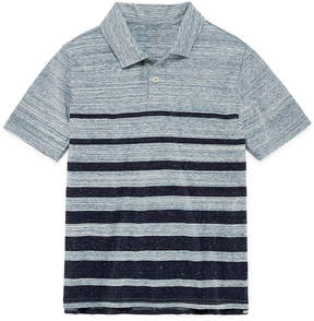 Arizona Short Sleeve Stripe Polo Shirt -Boys 4-20
