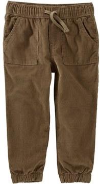 Osh Kosh Toddler Boy Pull On Lined Jogger Corduroy Pants