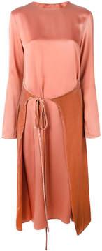 Cédric Charlier wrap skirt midi dress